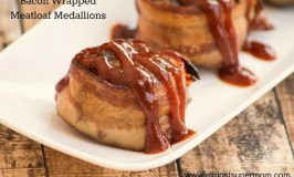 Bacon Wrapped Meatloaf Medallions