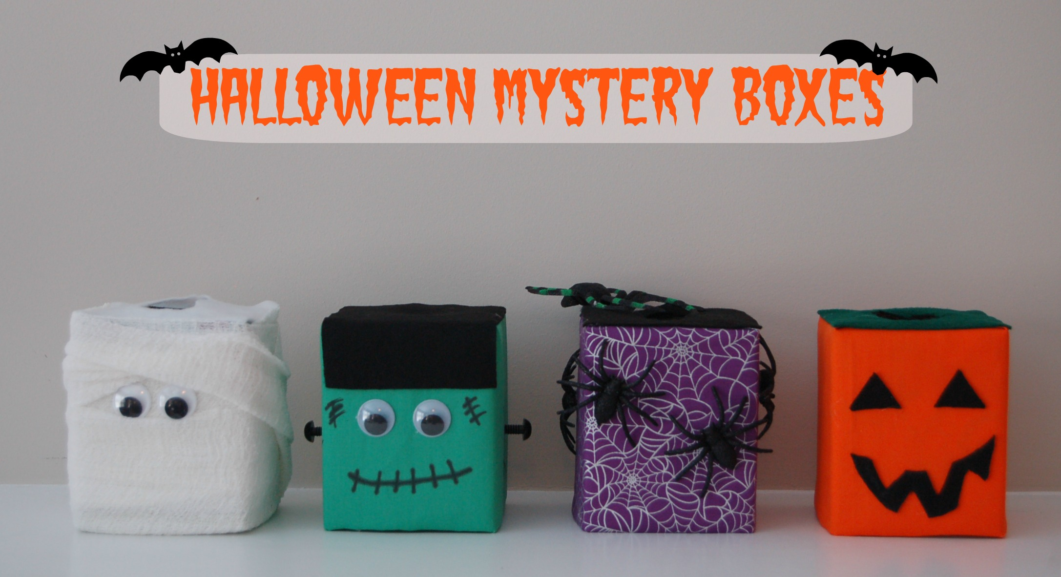 mystery box header - Halloween Fear Factor Games