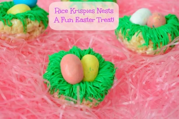 Rice Krispies Bird Nests - A fun Easter treat!