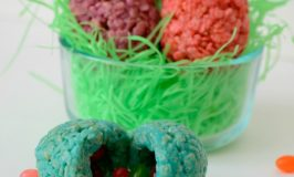 Colorful Rice Krispy Easter Eggs