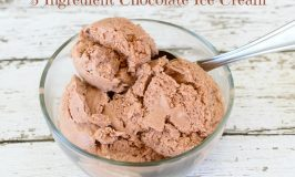 3 Ingredient Chocolate Ice Cream – No Ice Cream Machine Needed!