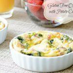 Gluten Free Quiche with Potato Crust