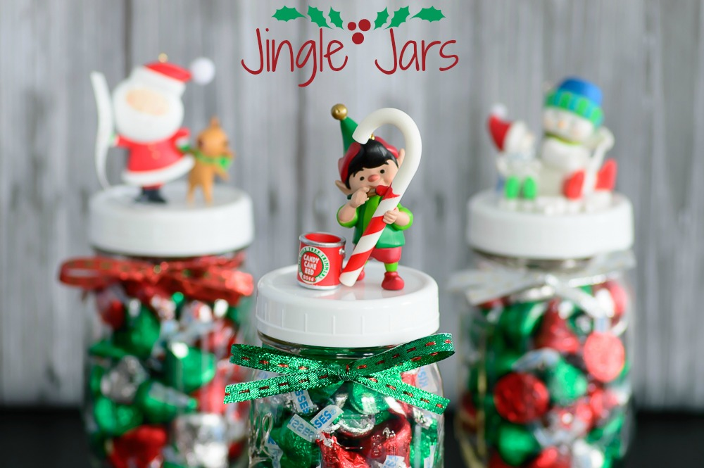 diy Jingle Jars using ornaments