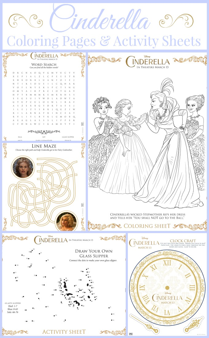 Cinderella Coloring Pages And Activity Sheets Almost