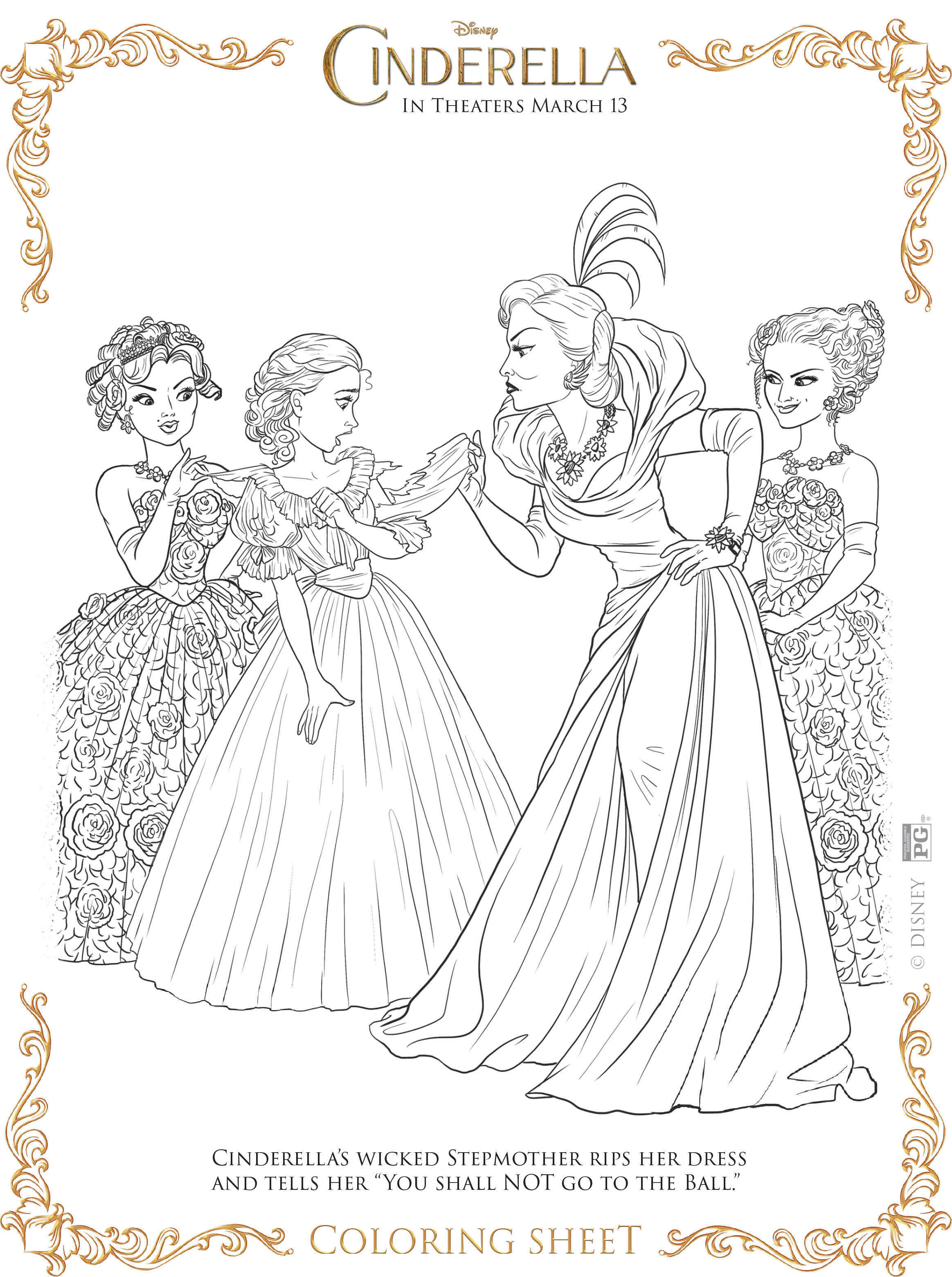 Coloring pictures cinderella - Coloring Pages