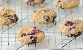 4 Ingredient Blueberry Oatmeal Breakfast Cookies