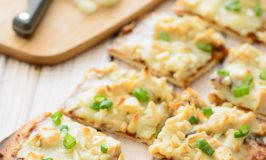 Gluten Free Spicy Garlic Chicken Flatbread