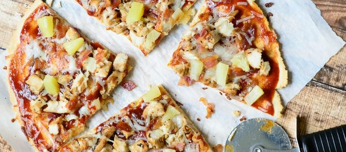 Gluten Free BBQ Chicken, Bacon and Pineapple Flatbread