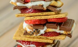 10 Minute Chocolate Covered Strawberry S'mores
