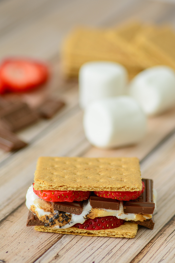 Chocolate Covered Strawberry S'mores. Kick this old camping favorite up a notch. It's a sophisticated twist on an old favorite