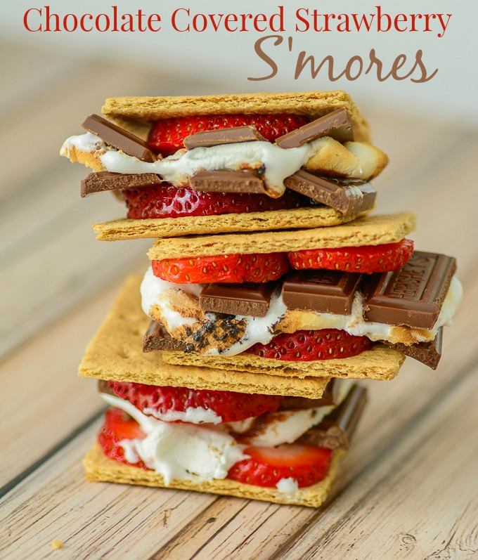Chocolate Covered Strawberry S'mores. Kick this old camping favorite ...
