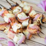 Bacon and Ranch Chicken Kabob Recipe. Who doesn't love ranch or bacon? Put them together with some chicken and grill them for an amazing grill recipe!