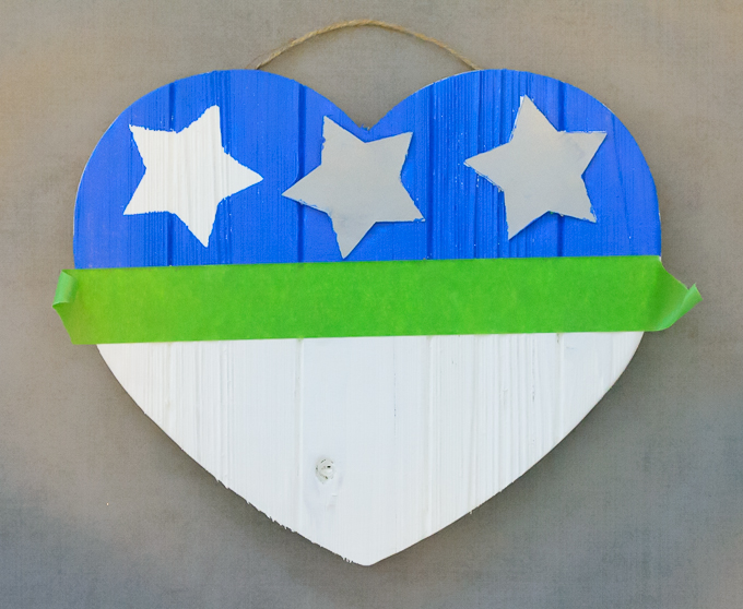DIY American Flag Wooden Heart-4107