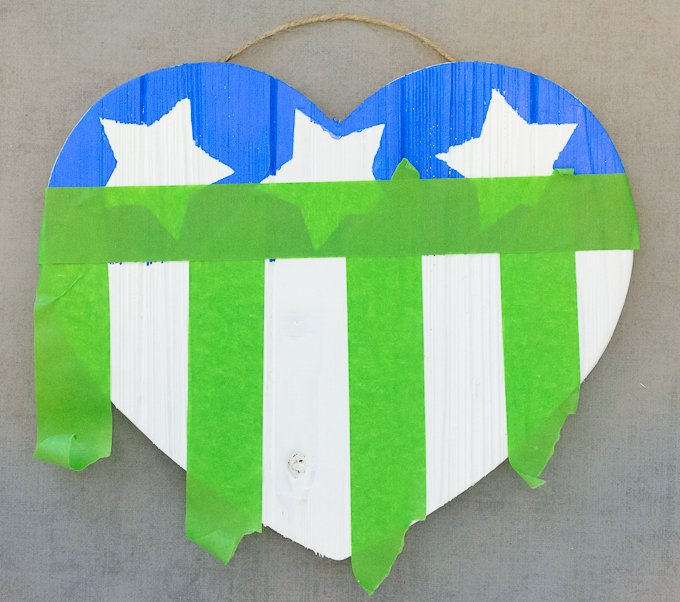 DIY American Flag Wooden Heart-4110