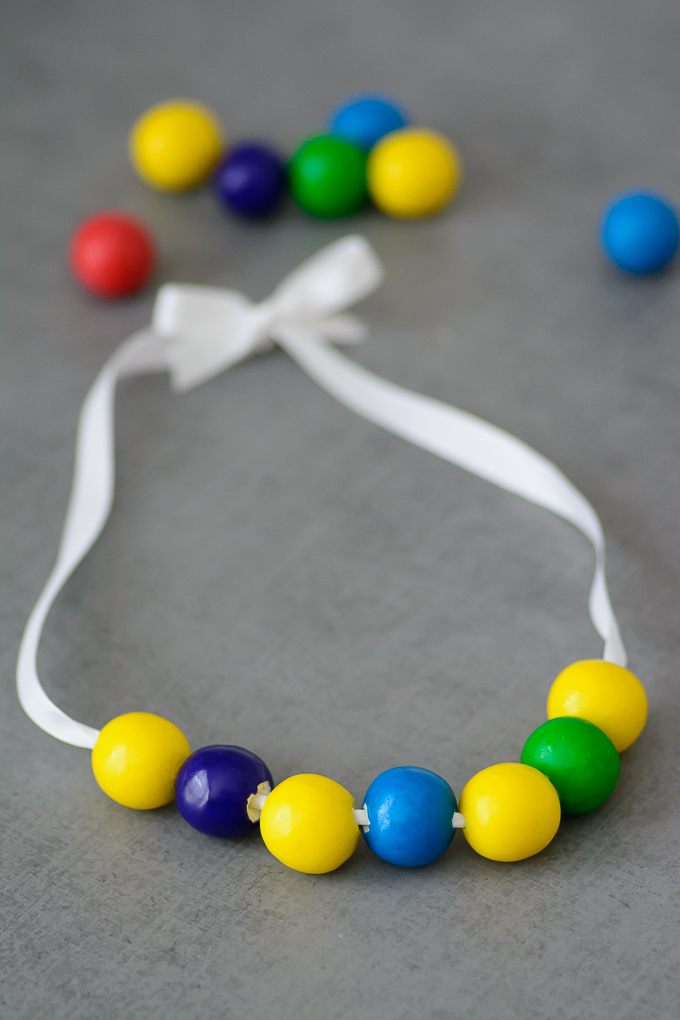 Inside Out Gumball Memory Necklace-4335