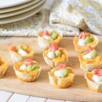 Cheesy Chicken Enchilada Bites. The melty cheesy center and zesty enchilada sauce combine to create a delectable flavor explosion. This is a must try appetizer recipe for your next party.
