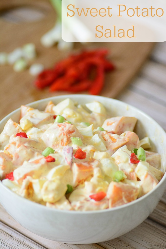 Sweet Potato Salad. Delicious paleo recipe that is perfect for picnics and BBQs.