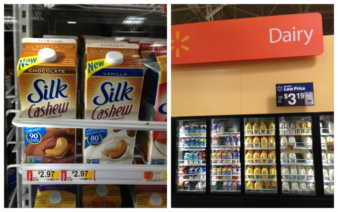 Silk Cashew Milk at Walmart