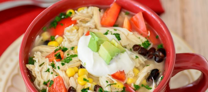 Slow Cooker Tex-Mex Chicken Soup