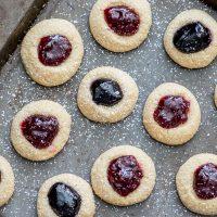 Gluten Free Jam Thumbprint Cookies