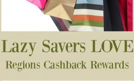 Lazy Savers LOVE Regions Cashback Rewards!