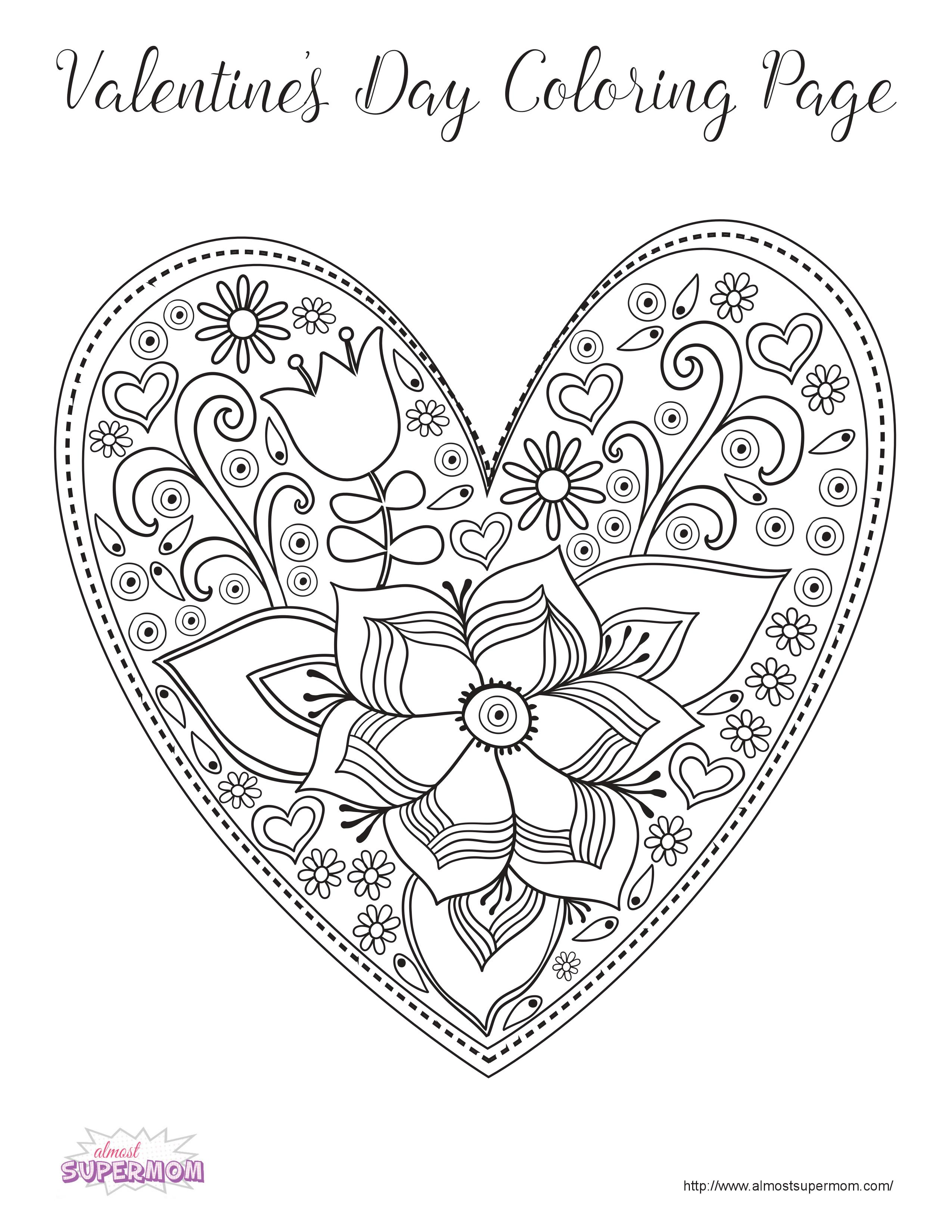 FREE Valentine 39 s Day Coloring Pages for Grown Ups Almost