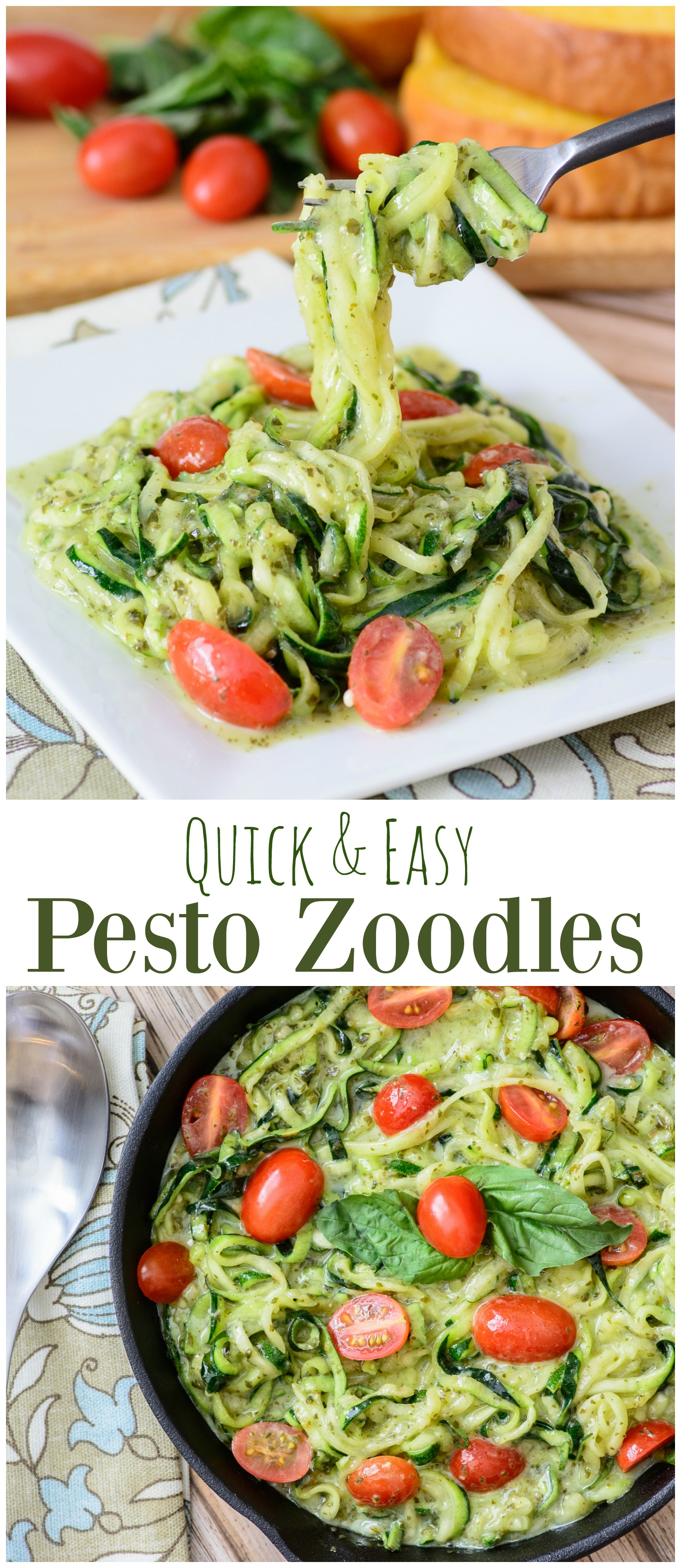 Quick Easy Makeup Tips Ideas For Work: Quick & Easy Pesto Zoodles