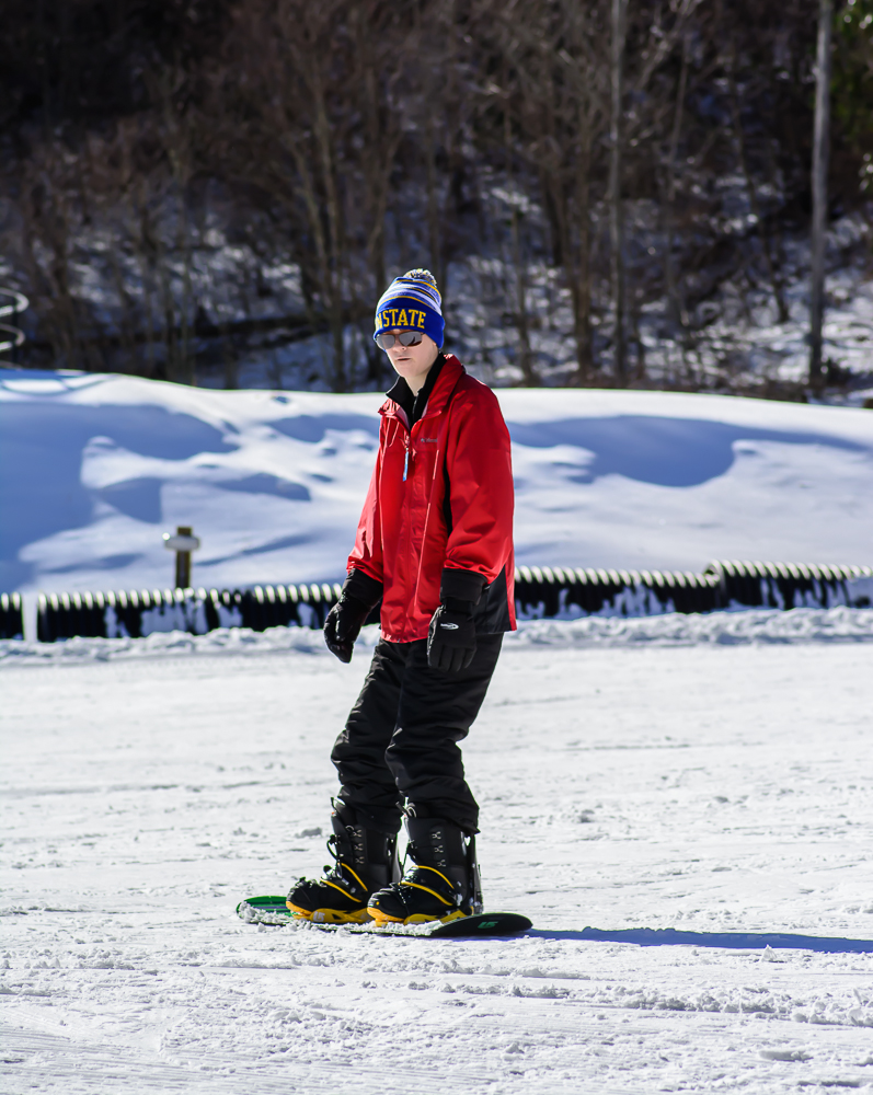 Snowboarding at Beech Mountain Resort
