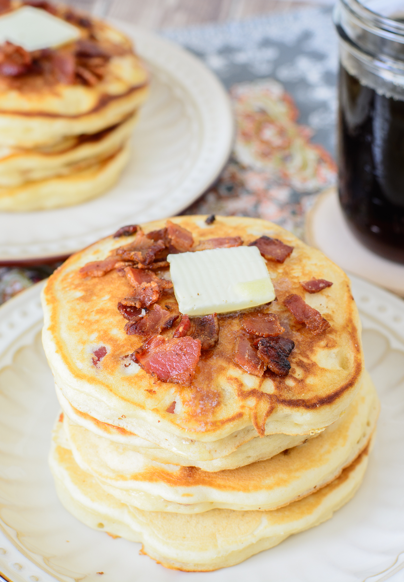 Maple Bacon Pancakes - Almost Supermom