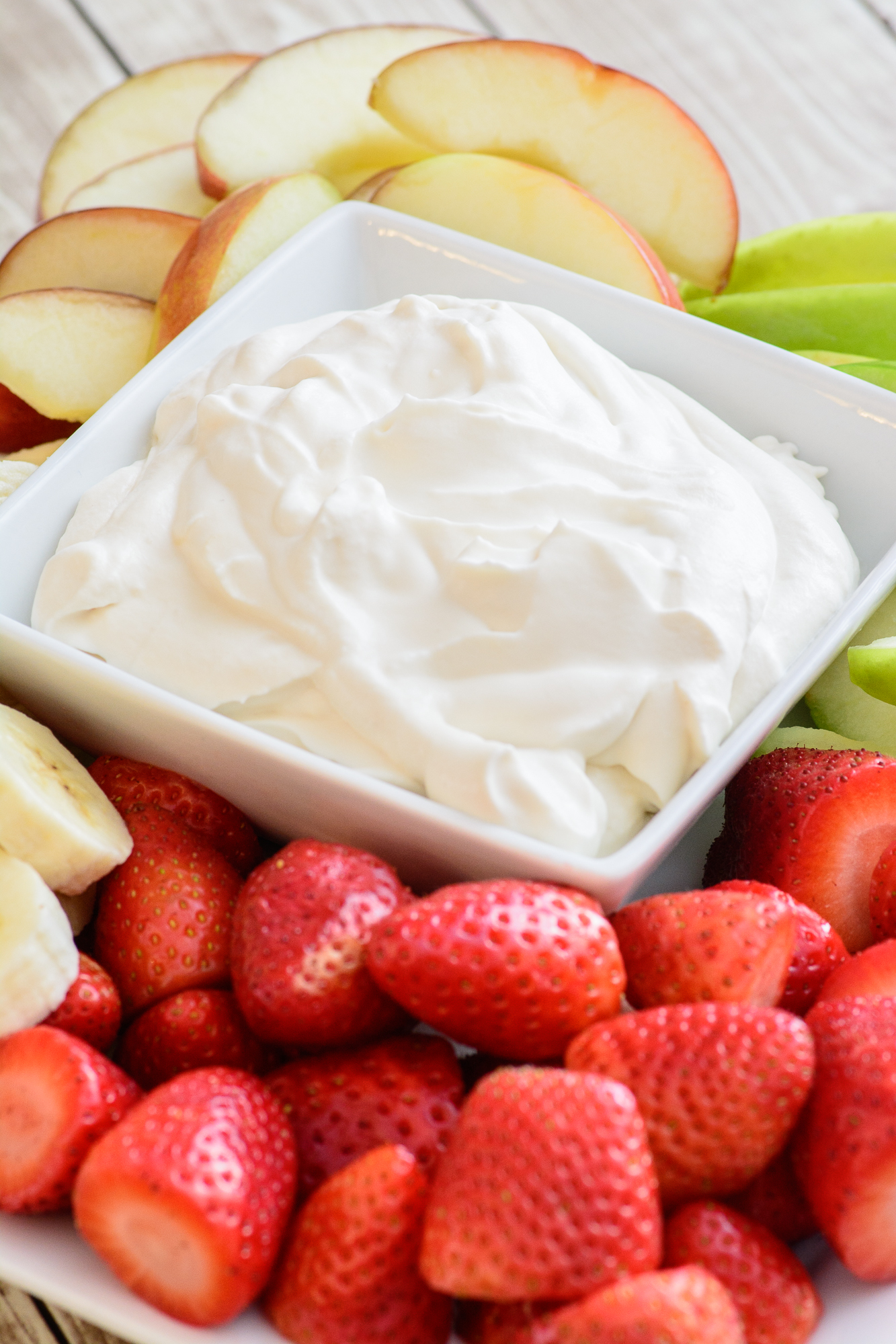 healthy fruit dip with yogurt guyabano fruit