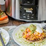 These Spicy Quinoa Tostadas are easy to make in the Crock-Pot and are the perfect spicy (and healthy) dinner for your family!