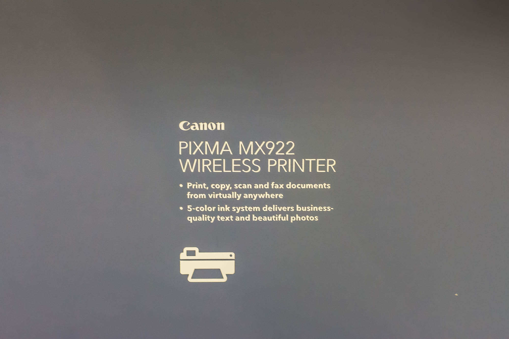 The Canon PIXMA Printer at Best Buy Tech Home
