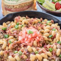 Smokey Bacon Cheeseburger Skillet