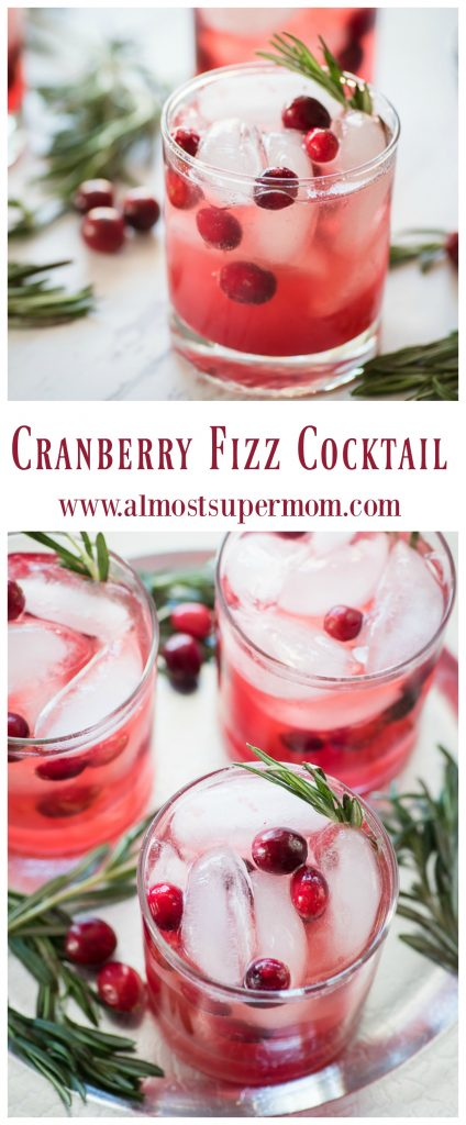 Cranberry Fizz Cocktail Recipe. This refreshing winter cocktail is sure to be a hit this holiday season.