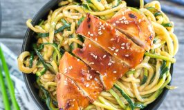 The Best Teriyaki Chicken Zoodle Bowls