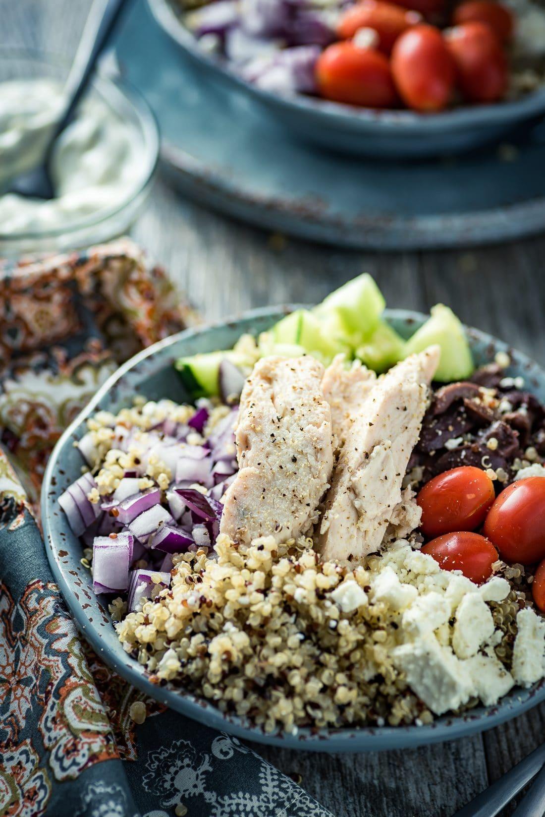 Mediterranean Quinoa Bowl - Almost Supermom