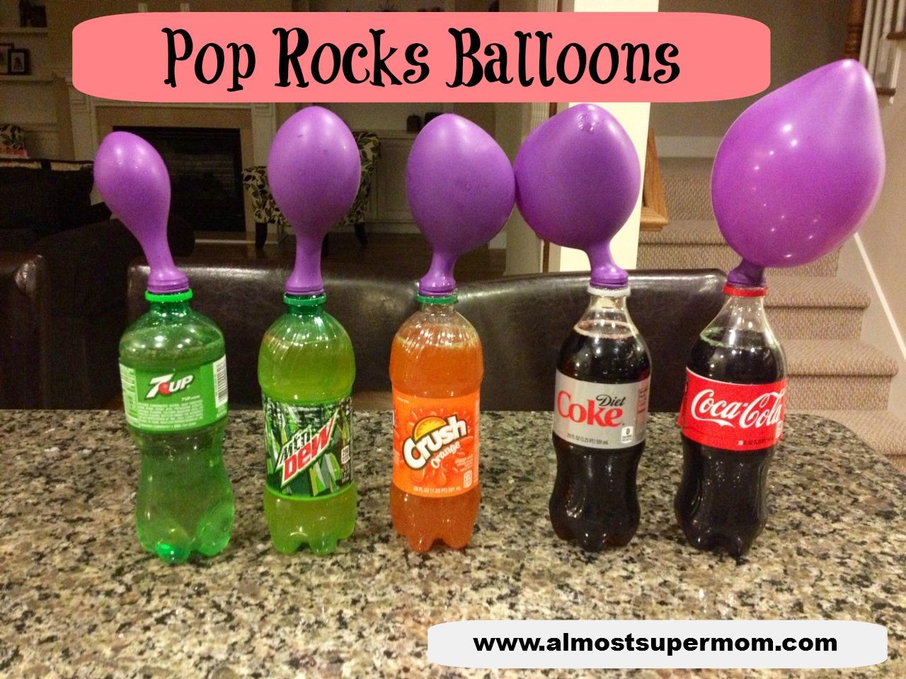 Pop Rocks Balloons - Almost Supermom