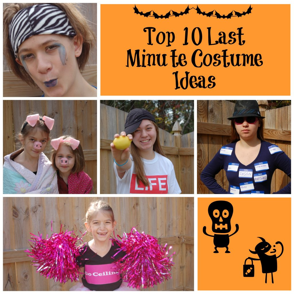 top 10 last minute costumes
