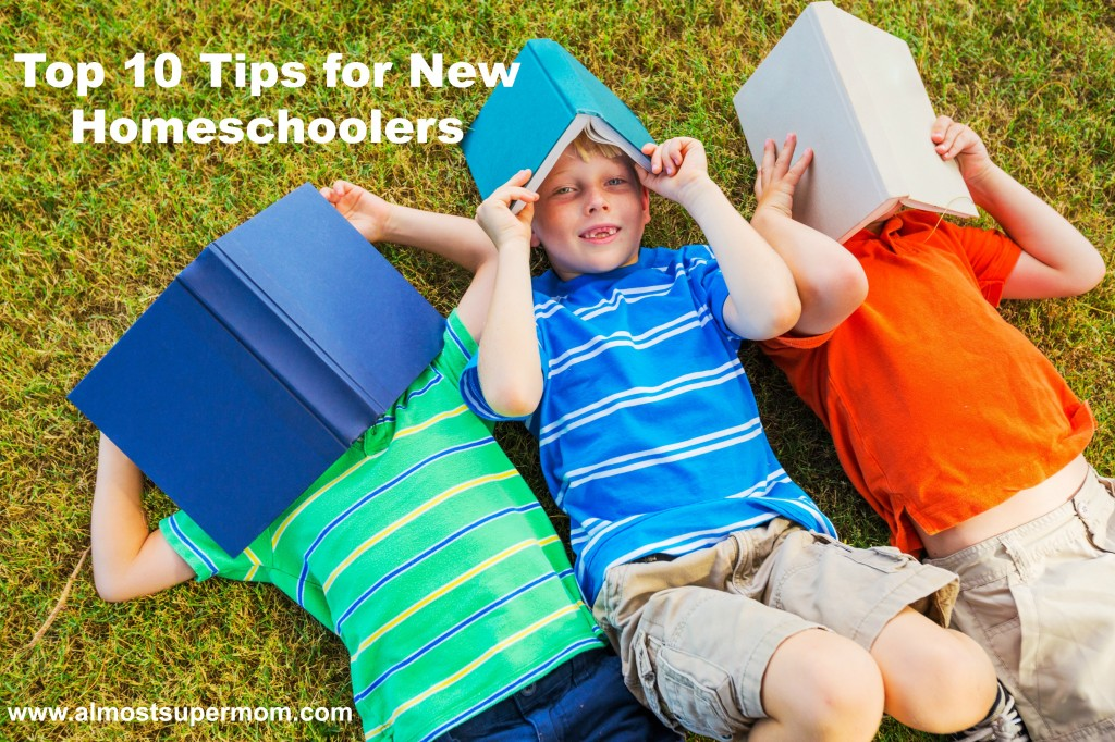 Top 10 Tips for New Homeschoolers! Great information for those beginning their homeschool journey. I especially LOVE number 6!