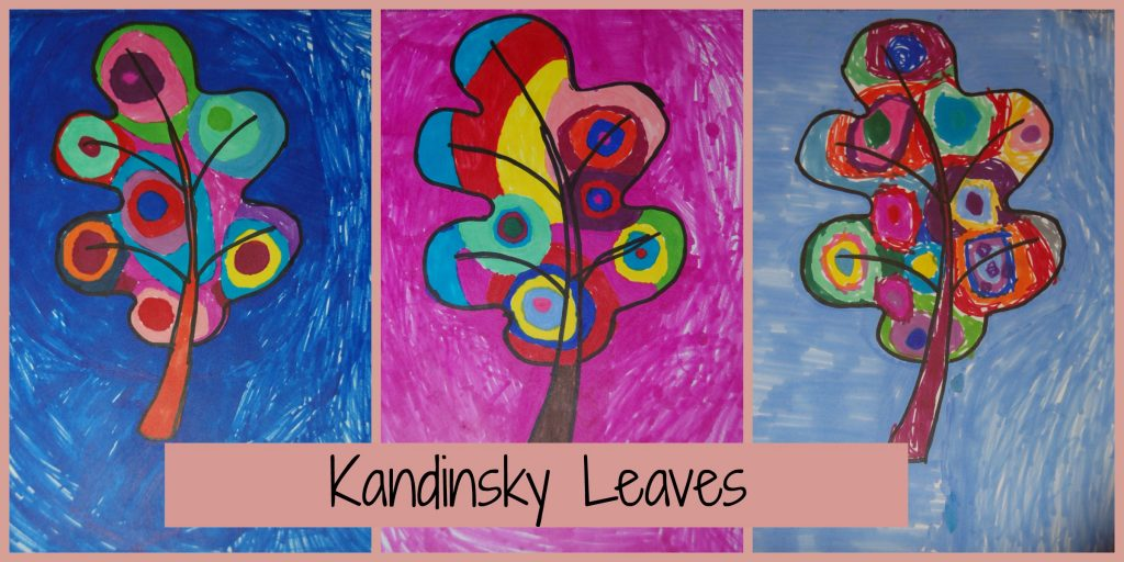 Kandinsky Leaves Art Project. Wonderful way to introduce kids to abstract art.