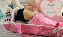 Simple Doll Carrier Sewing Tutorial