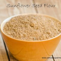 How to Make Sunflower Seed Flour