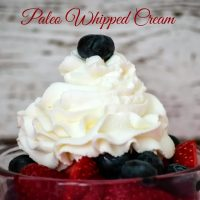 Paleo Whipped Cream