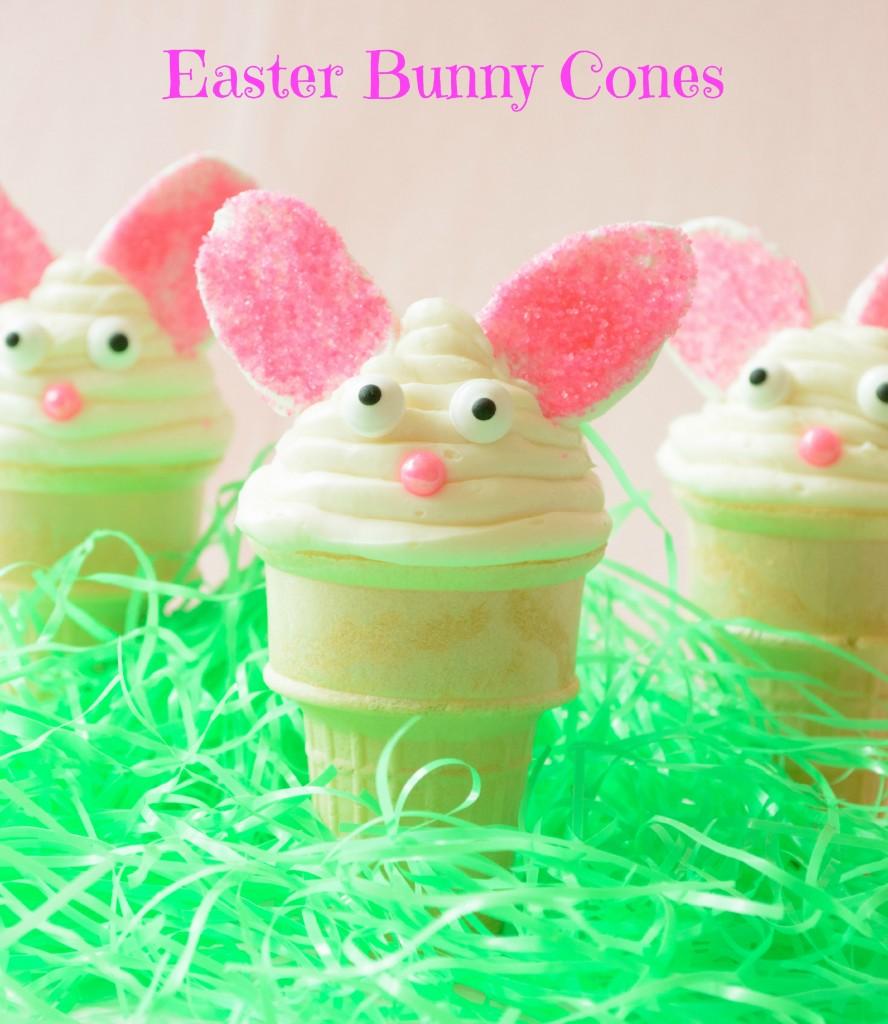 Easter Bunny Cupcake Cones