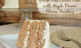 Grain Free Carrot Cake with Maple Cream Cheese Frosting