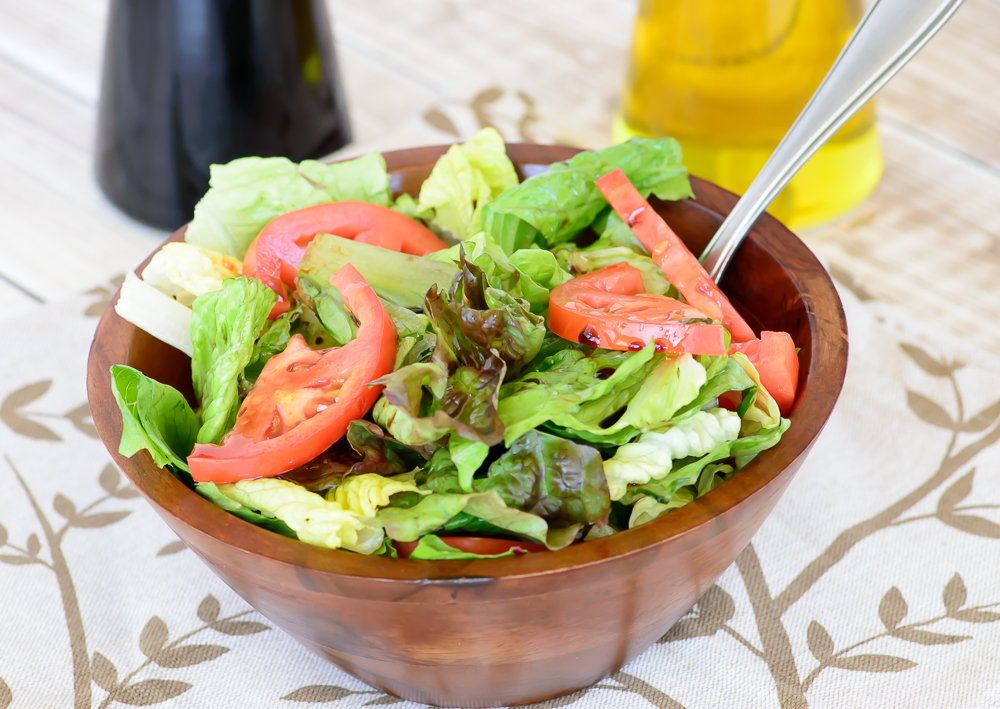 philly cheesesteak- balsamic vinegar salad