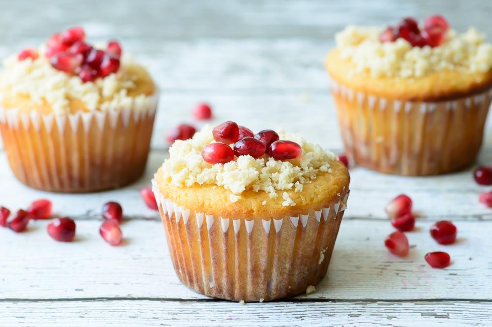 Orange Pomegranate Muffins
