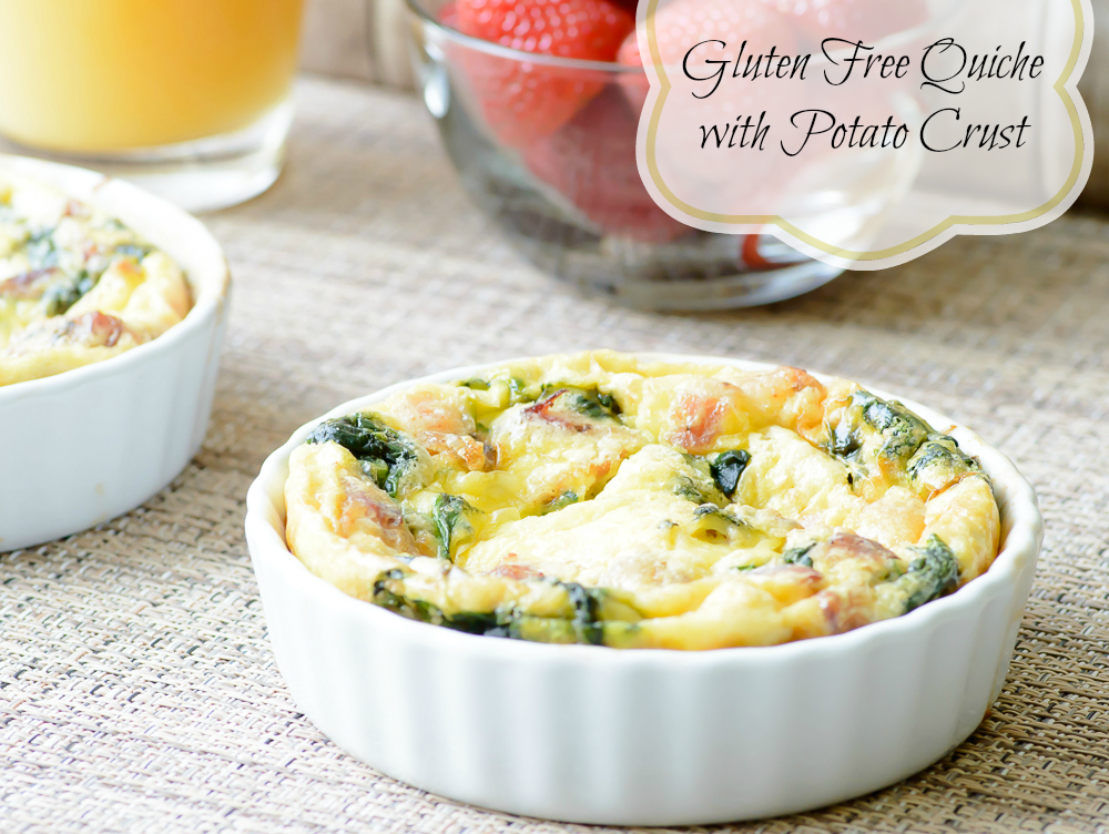 Gluten Free Quiche with Potato Crust