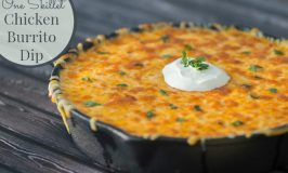 One Skillet Chicken Burrito Dip