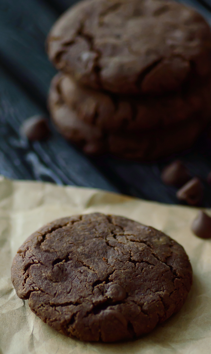 Ultimate Double Chocolate Chip Paleo Cookies. If you are on a paleo diet then these cookies are the perfect paleo dessert for you. This is the best recipe for paleo cookies ever. Rich and chocolately, the perfect caveman treat.